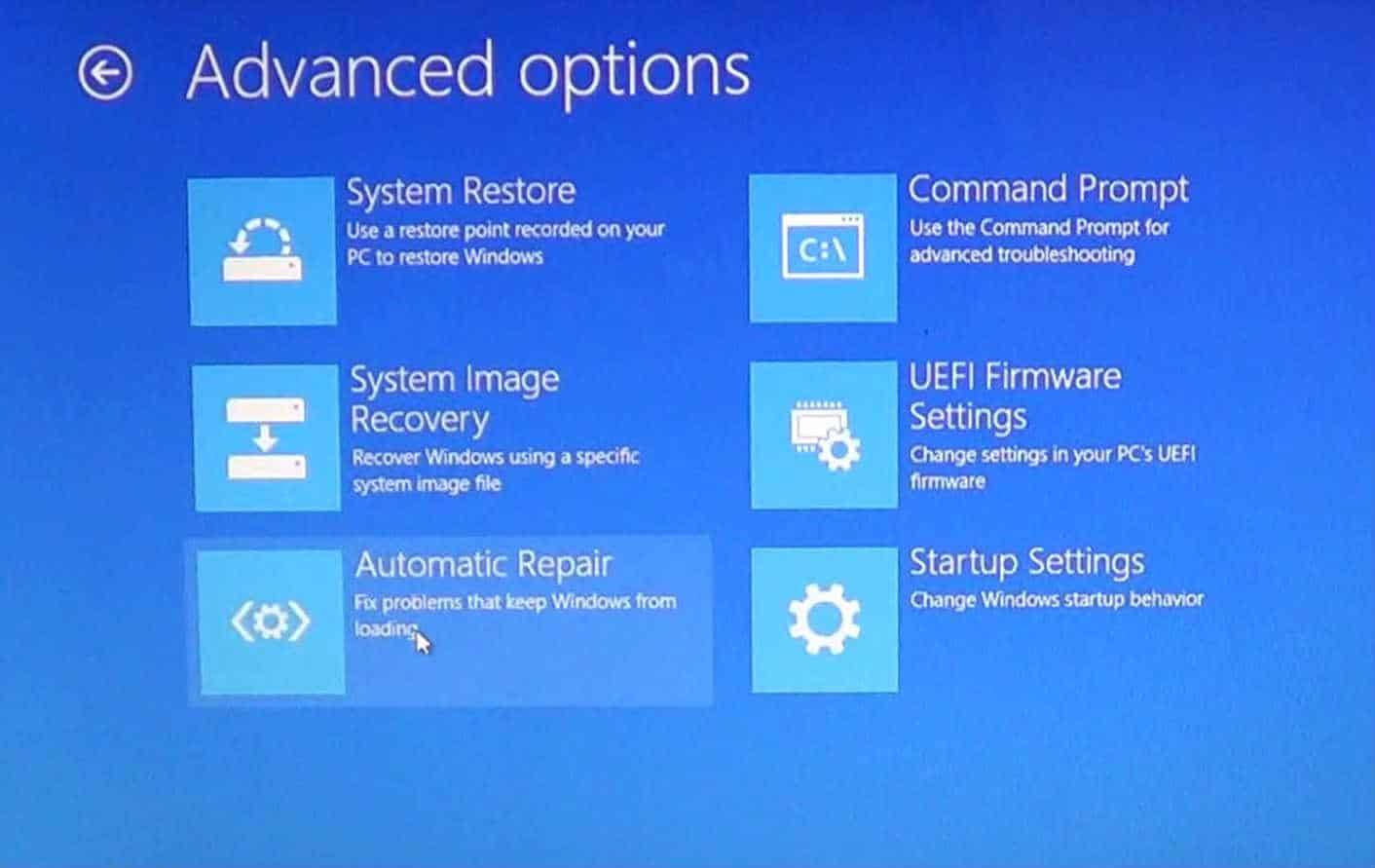 How to fix Windows 8 Infinite Startup Repair/Recovery Loop