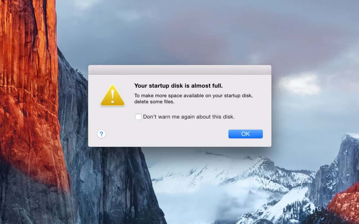 """How to fix the """"Startup Disk Almost Full"""" error on Mac OS X"""