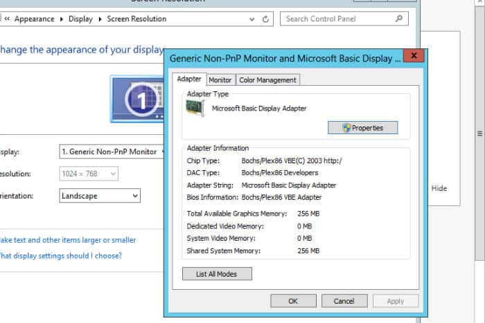 How to change Windows 10 Microsoft Basic Display Adapter To Current