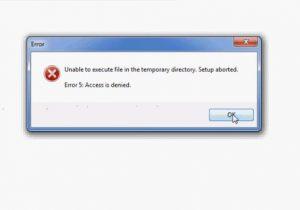 error 5 access is denied