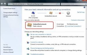 Ethernet Unidentified Network Windows 10