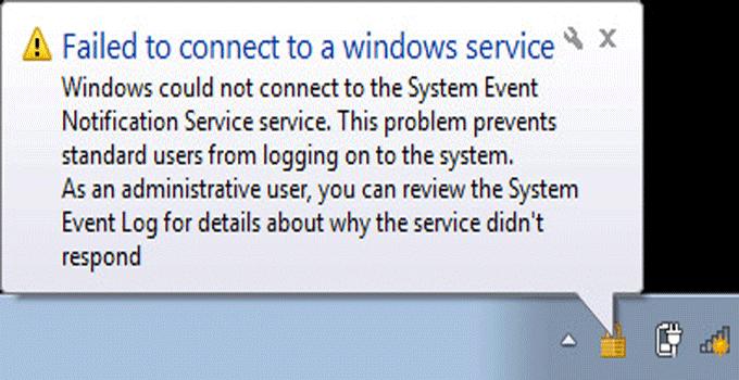 Windows 10 Failed To Connect To Windows Service Error