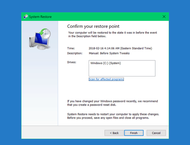 Windows 10 System Restore Error 0x800700b7