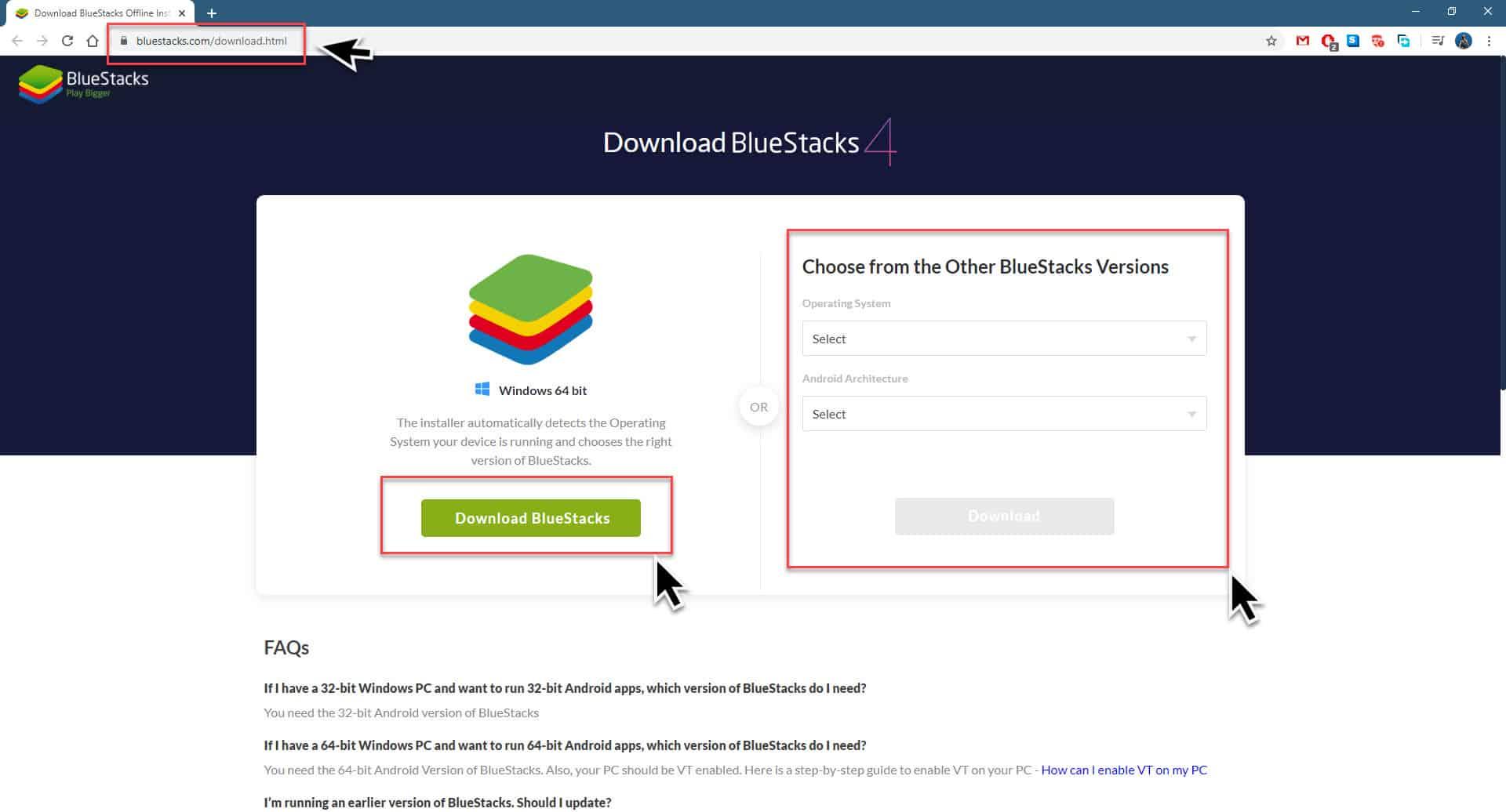 Installing Bluestacks 4