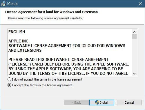 Use iCloud in Windows 10