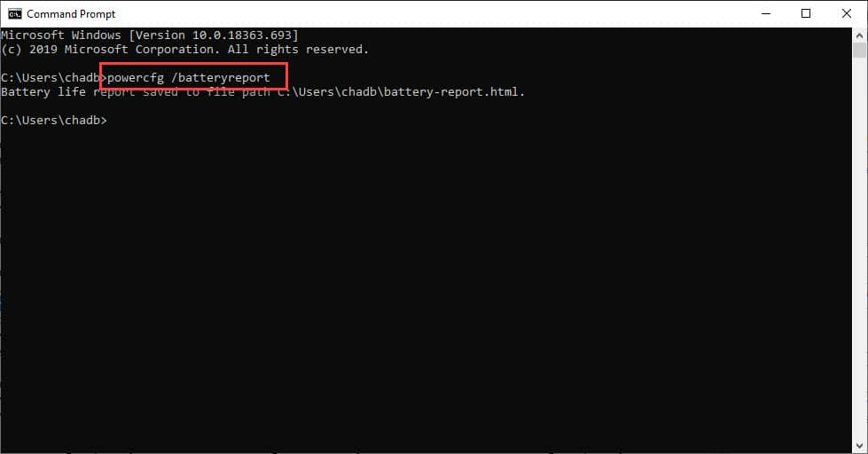 Check Your Laptop Battery Health in Windows 10