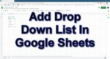 How To Add Drop Down List In Google Sheets