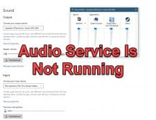 How To Fix The Audio Service Is Not Running On Windows 10