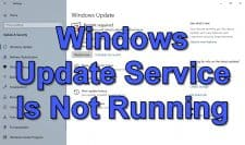 How To Fix Windows Update Service Is Not Running