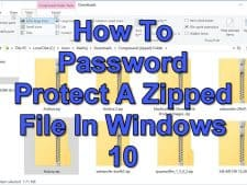 How To Password Protect A Zipped File In Windows 10
