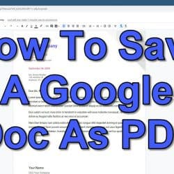 How To Save A Google Doc As PDF