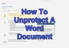How To Unprotect A Word Document