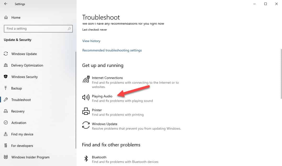 Windows 10 won't recognize headphones