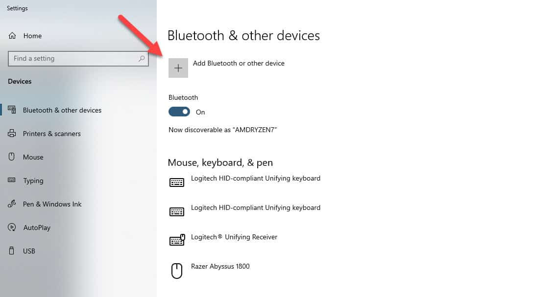 add bluetooth device