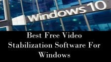 Video Stabilization Software For Windows