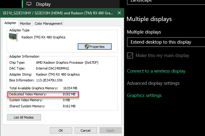 How To Check How Much VRAM Do I Have In Windows 10