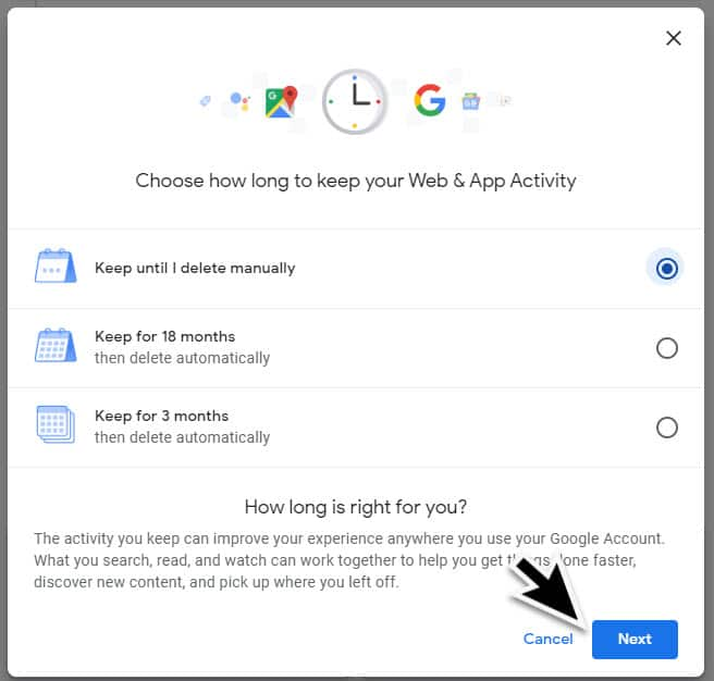 Delete Google Web Activity
