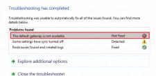 Default Gateway Not Available