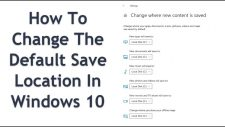 Change The Default Save Location