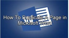 How To Duplicate A Page in Microsoft Word