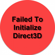 Failed To Initialize Direct3D
