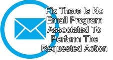 No Email Program Associated To Perform The Requested Action