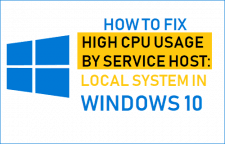 High CPU Usage By Service Host Local System