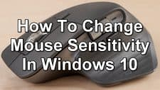 How To Change Mouse Sensitivity In Windows 10