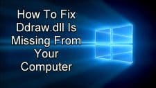 Ddraw.dll Is Missing From Your Computer