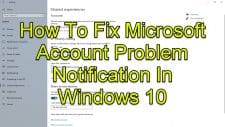 How To Fix Microsoft Account Problem Notification In Windows 10