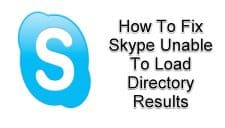 Skype Unable To Load Directory Results