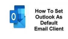 Set Outlook As Default Email Client