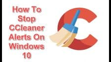 Stop CCleaner Alerts