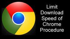 Limit Download Speed of Chrome Procedure