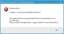 Microsoft Visual C++ Runtime Library Error