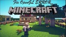 Minecraft OpenGL Error 1281