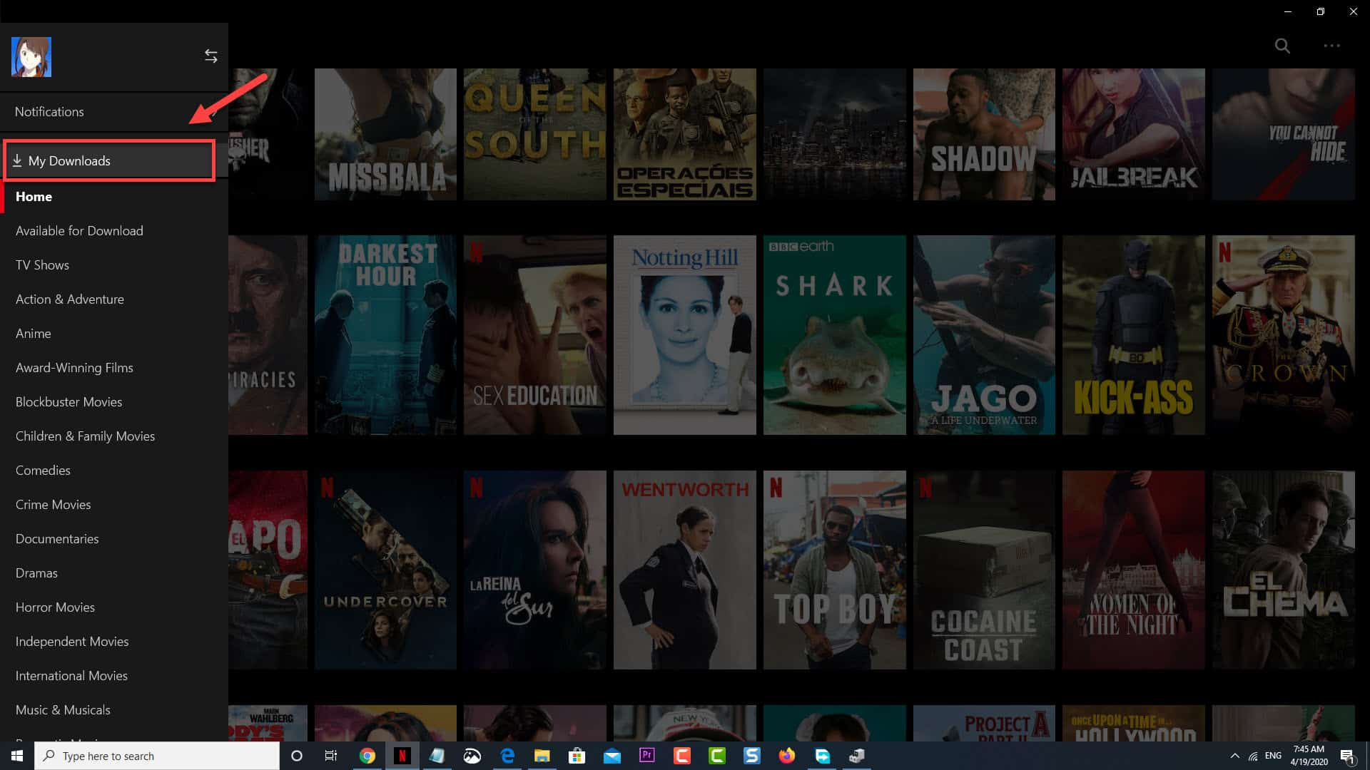 Netflix my downloads
