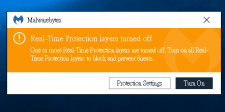 Protection Keeps Turning Off