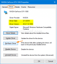 Rollback NVIDIA Drivers On Windows 10