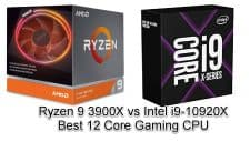 Ryzen 9 3900X vs Intel i9-10920X