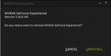 Uninstall GeForce Experience