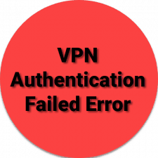 VPN Authentication Failed Error