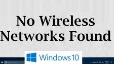 No Wifi Networks Found