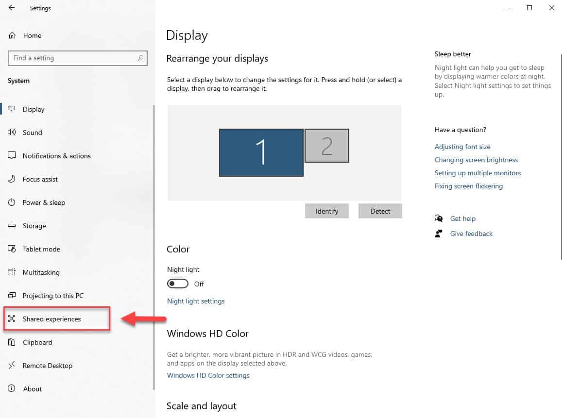 Windows 10 Shared Experiences