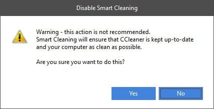 Stop CCleaner Alerts On Windows 10