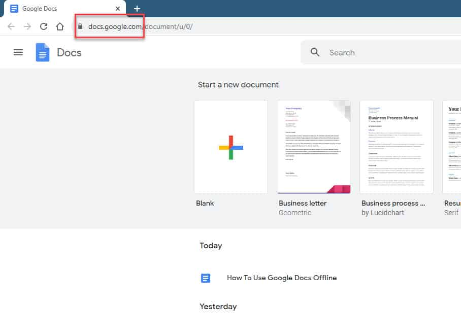 Use Google Docs Offline