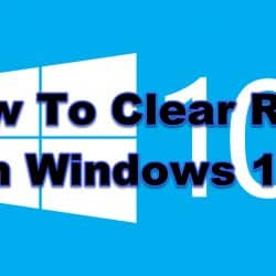 How To Clear RAM In Windows 10