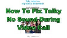 How To Fix Talky No Sound During Video Call