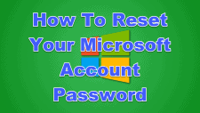 How To Reset Your Microsoft Account Password