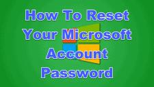 How To Reset Your Microsoft Account Password